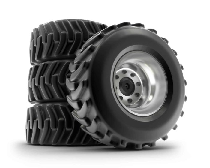 Tires stacked